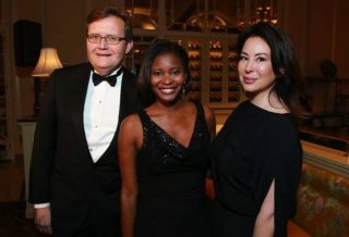 Kidney Ball Chair and ICF International COO John Wasson,1 National Kidney Foundation of DC board member ABC 7's Jummy Olabanji and Happy Madison's Judit Maull