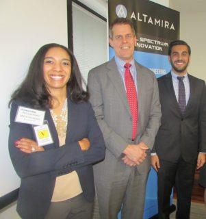 Kourtney Whitehead (accelHRate), Ted Davies (Altamira), Kartik Verma (Deloitte)