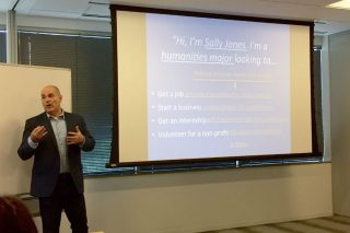 Bob London, of London, Ink, talks to NextGen Beltway Leaders on how to create an effective elevator pitch