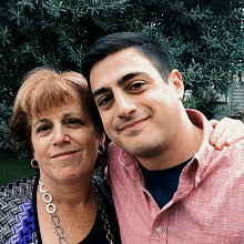 Donna Morea with her son, Adam Chandler