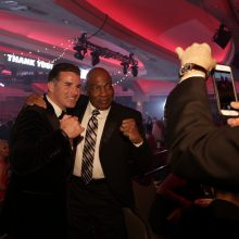 Kevin Plank at event with boxing legend Earnie Shavers