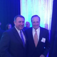 NCI Inc. CEO Brian Clark and Paul Lombardi, NCI Inc. Board of Directors member at the 2015 Greater Washington Government Contractor Awards