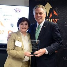 Nadia Short and Governor Terry McAuliffe