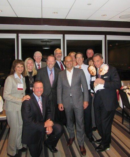 John Hillen with Julian Setian and friends