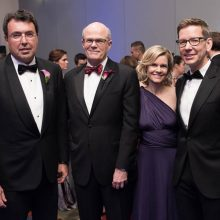 From left: Leukemia Ball co-chair Wayne Berson, CEO of BDO; Sr. co-chair Ed Offterdinger, Baker Tilly Executive Managing Partner; LLS National Capital Executive Director Beth Gorman, and Amgen Vice President and General Manager Richard Paulson,