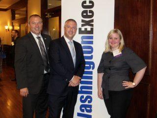 MARCOM Committee Co-Chairman Andrew Bryden (CRSA), sponsor Matt McQueen (Northrop Grumman), and speaker Joni Renick (CEB)
