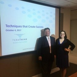 Rising Stars of GovCon Chairperson Lisa Shea Mundt (AOC Key Solutions), and Rick Dansey (Terathink)