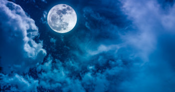 Beautiful vivid cloudscape with many stars. Night sky with bright full moon and cloudy, serenity blue nature background. Outdoor at nighttime with moonlight. The moon taken with my own camera.