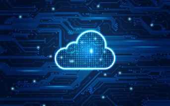 cloud symbol combined with electronic board, concept of cloud computing