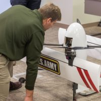 Aeronautical engineers from the U.S. Army Research Laboratory took delivery of an innovative, new unmanned aircraft system.The lab's Vehicle Technology Directorate has worked closely with partners at the University of Maryland to develop the vehicle, which is part of the Common Research Configuration Program. U.S. Army photo by David McNally