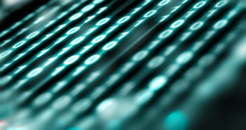 Matrix and binary language abstract background.Technology and computer graphic concept