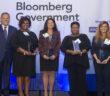 Mike Rogers (left) with Executive Assistant of the Year award winners Coney Jackson Elam, Nancy Edwards, Groslyn Burton,Pennie Parkin and WashingtonExec's JD Kathuria.