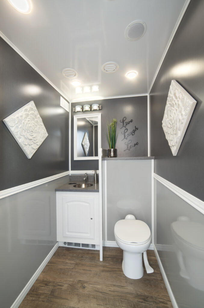 14-Foot Porta Potty Trailer - Toilet and Vanity