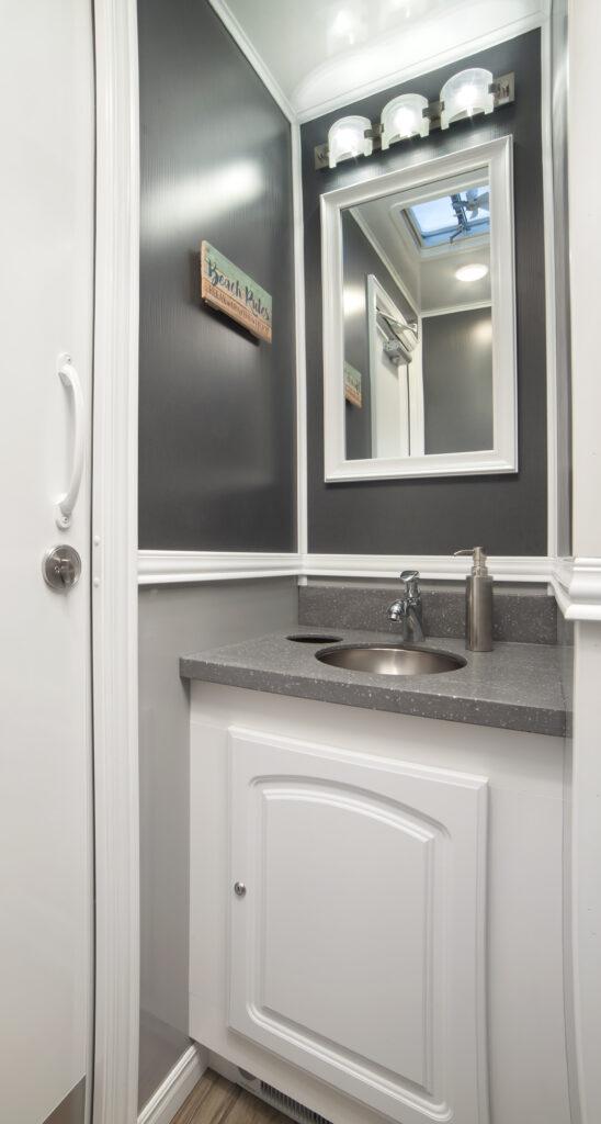Portable Restroom Vanity and Mirror