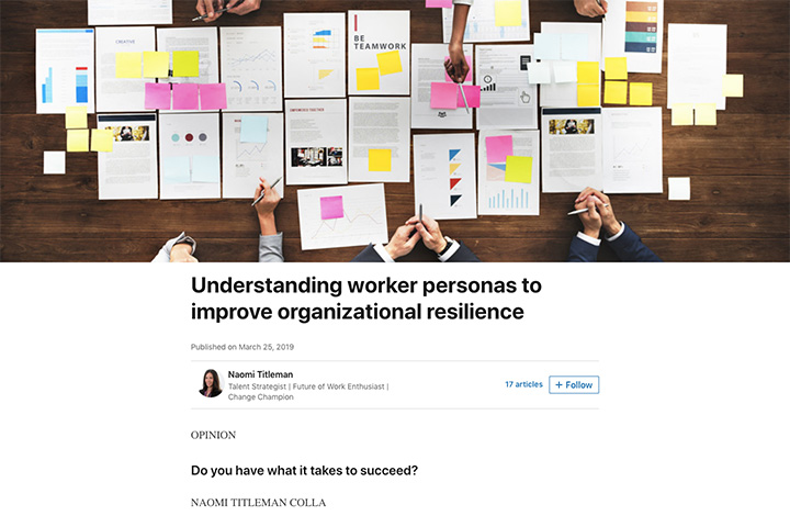 Understanding worker personas to improve organizational resilience
