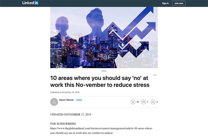 10 areas where you should say 'no' at work this No-vember to reduce stress
