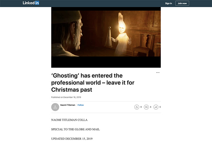 'Ghosting' has entered the professional world – leave it for Christmas past
