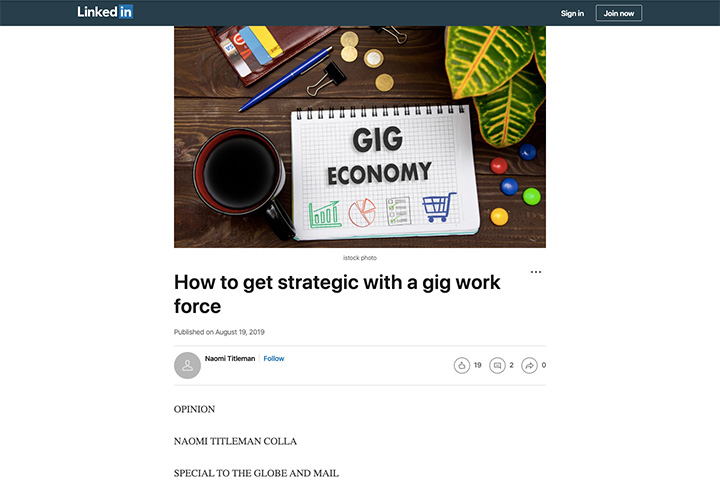 How to get strategic with a gig work force