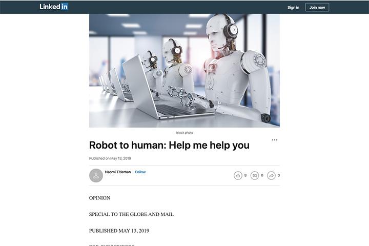 Robot to human: Help me help you