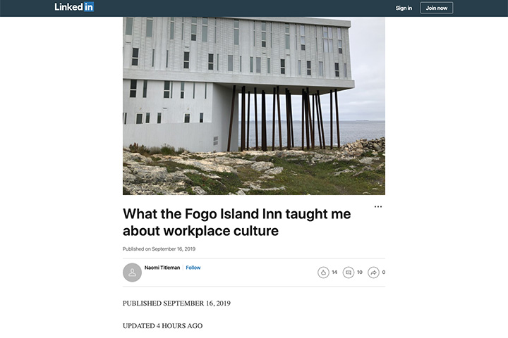 What the Fogo Island Inn taught me about workplace culture