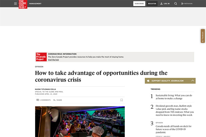 How to take advantage of opportunities during the coronavirus crisis