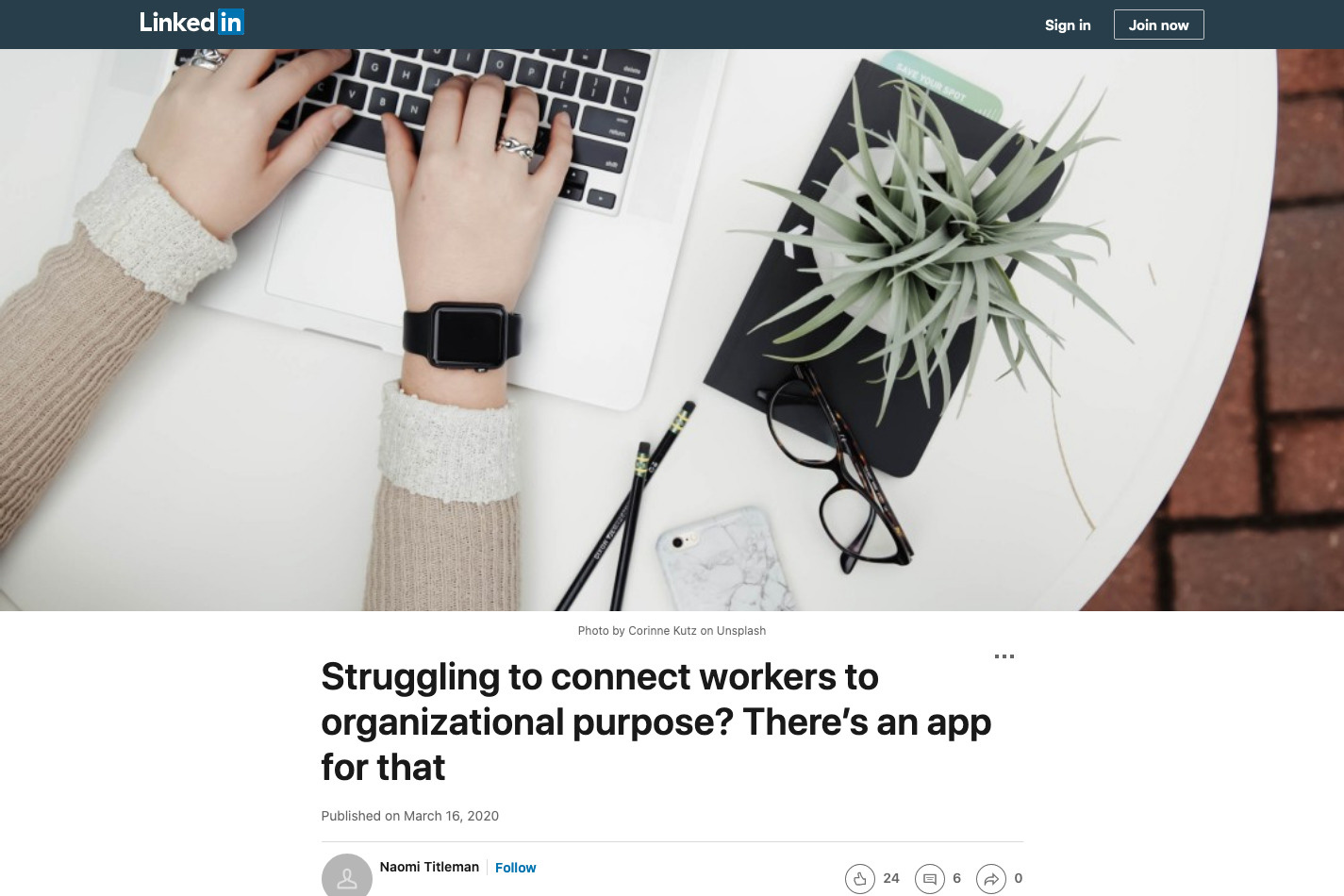 Struggling to connect workers to organizational purpose? There's an app for that
