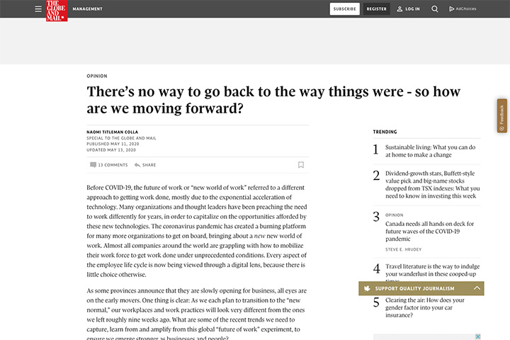 There's no way to go back to the way things were - so how are we moving forward?