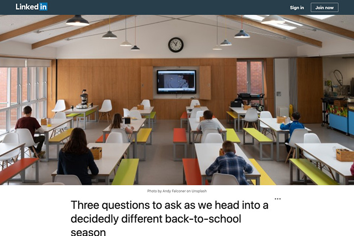 Three questions to ask as we head into a decidedly different back-to-school season