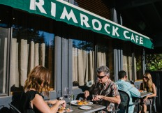 patio at the Rimrock Cafe Whistler