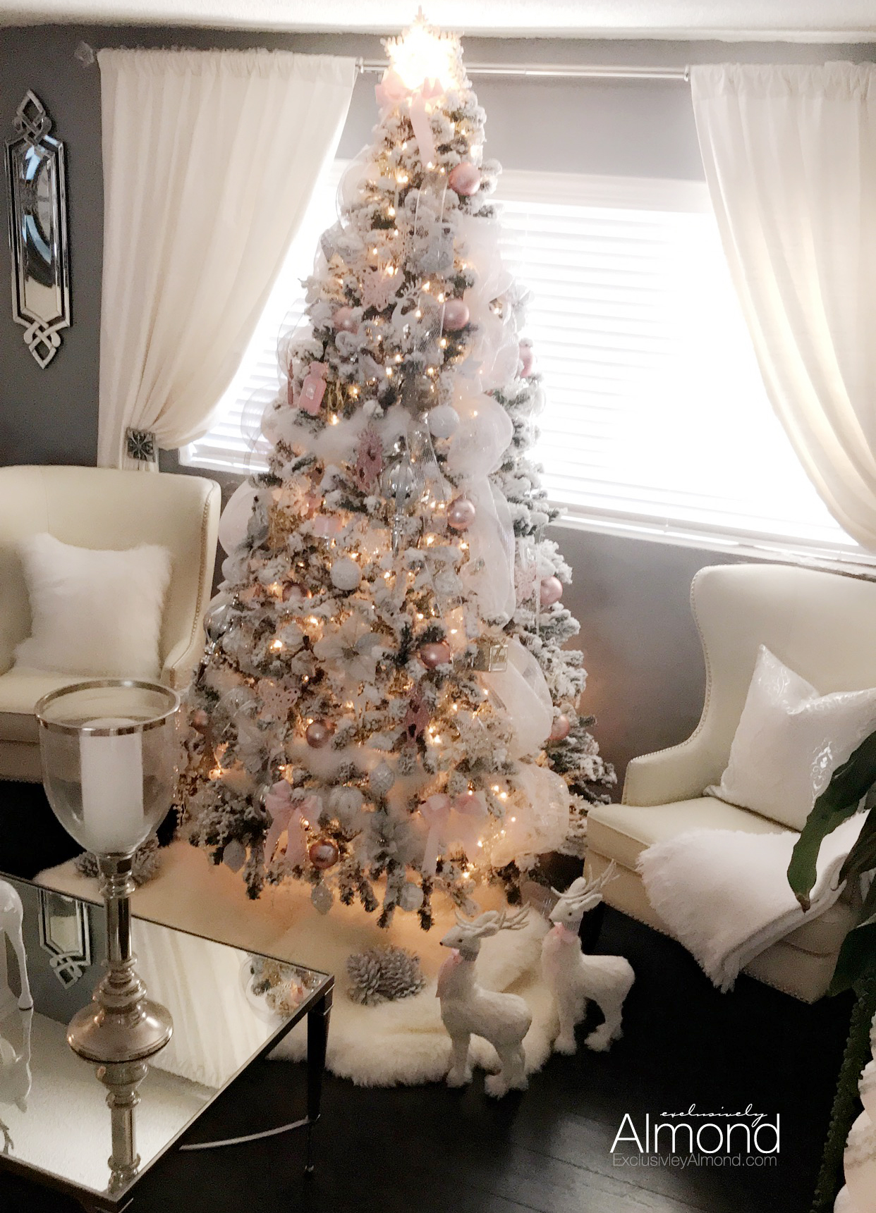 Christmas Decorating Ideas Blush Pink Christmas Decorations Ornaments