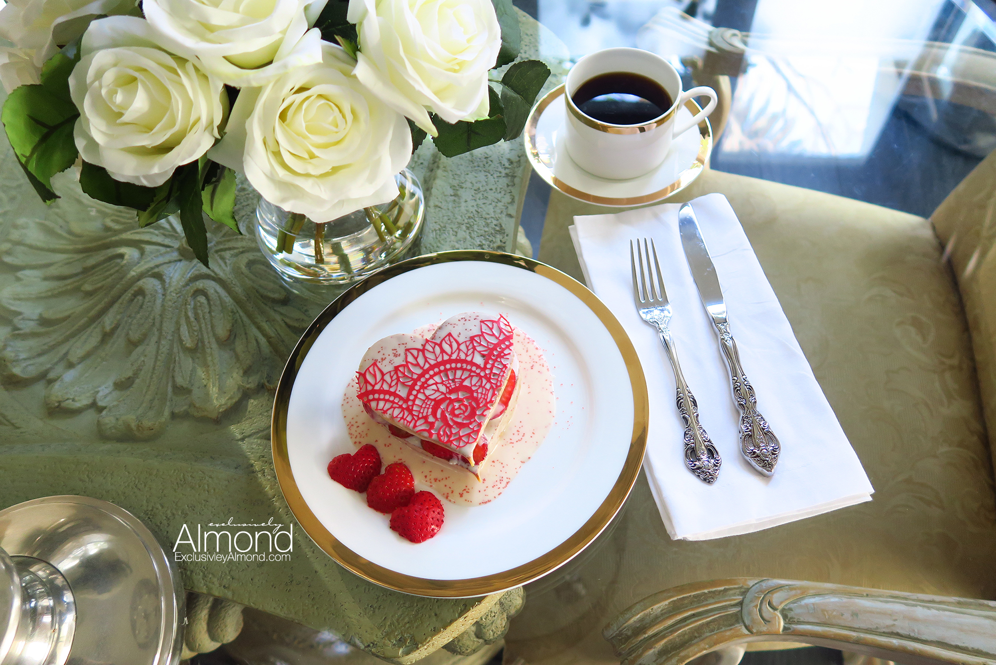 Valentine's Day Breakfast Ideas heart shaped pancakes