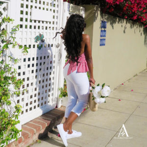 White Capri Pant women