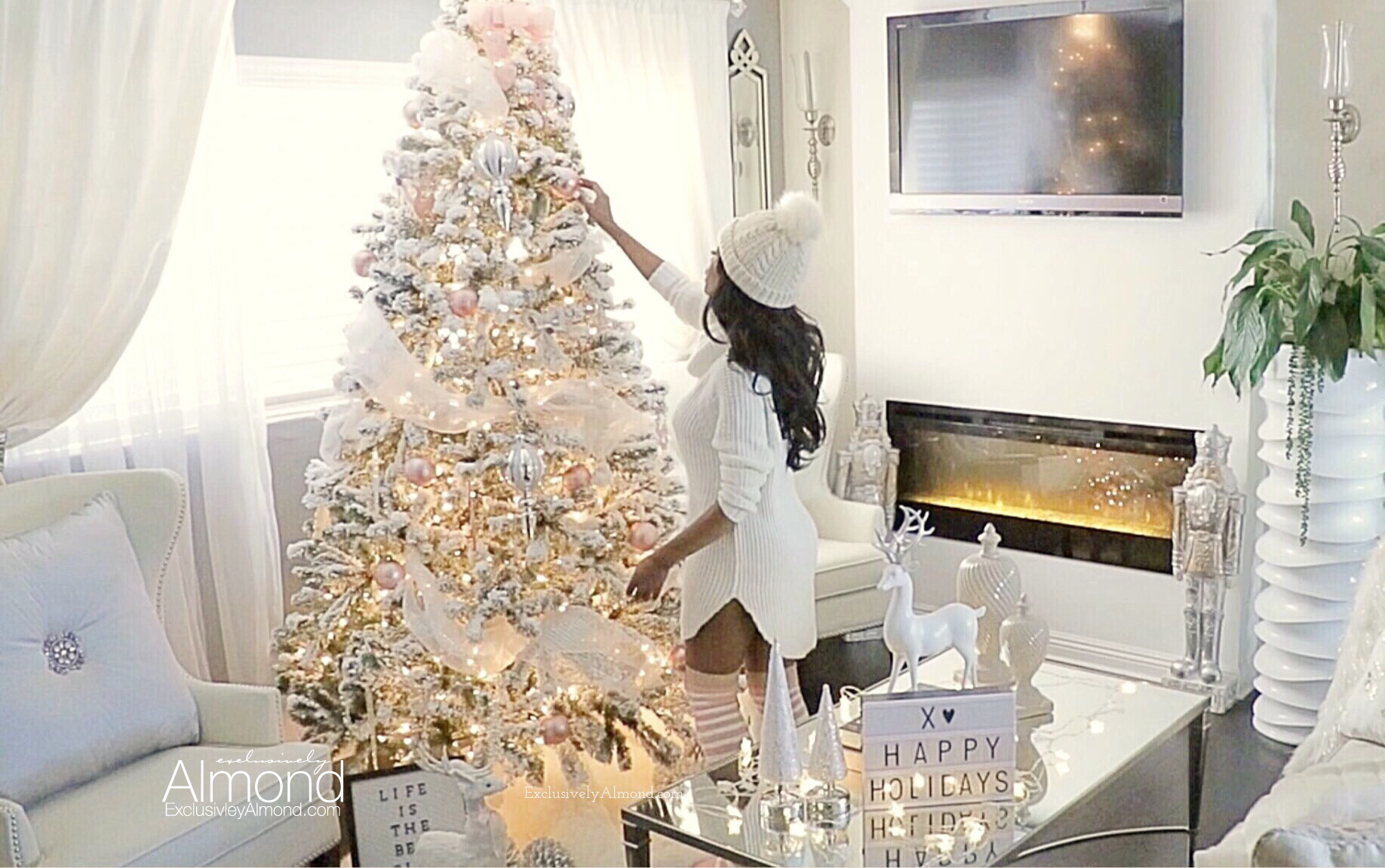 Christmas Decorating ideas Blush Pink Christmas Decorations Almond Summers