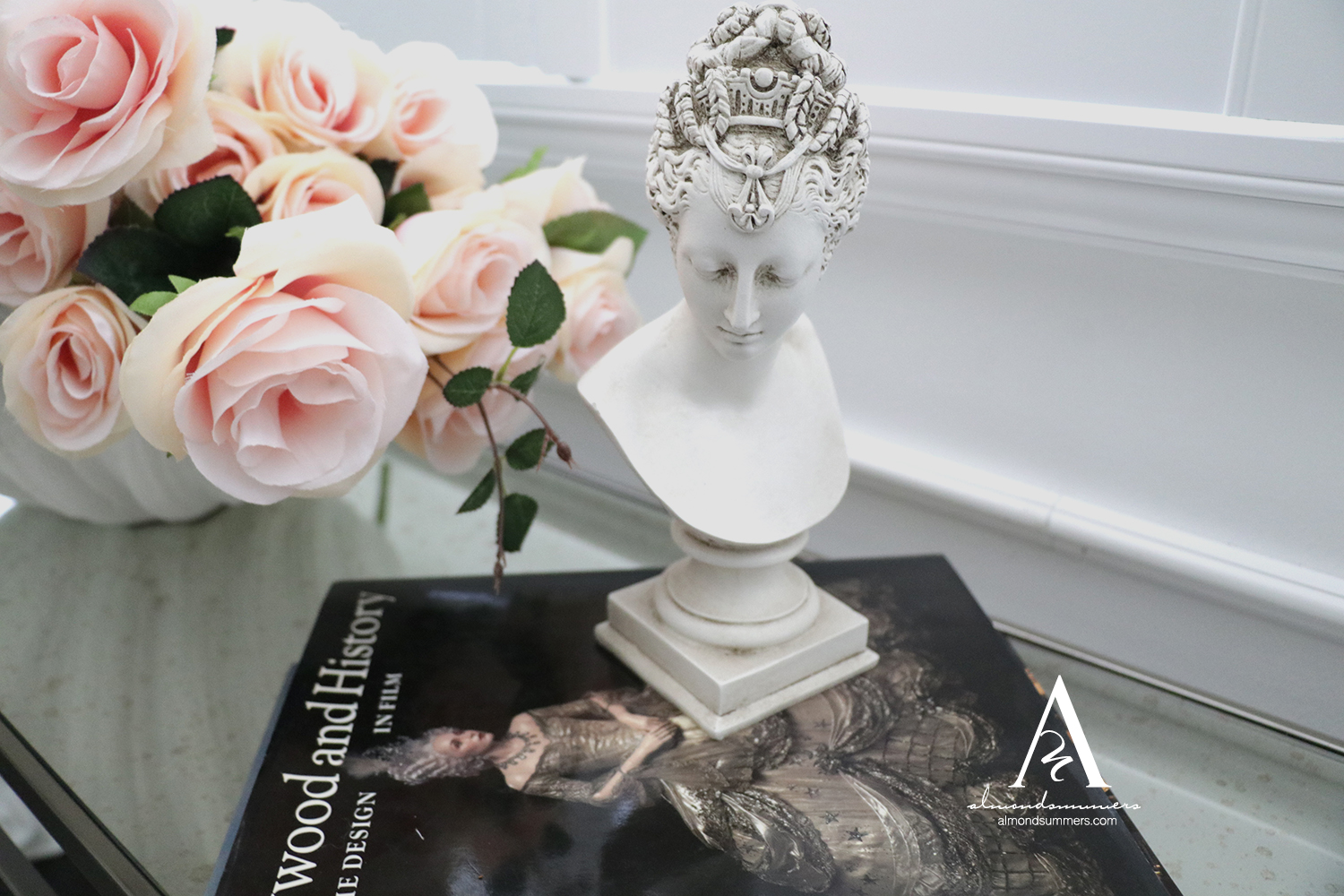 French Office Decor Ideas |Almond Summers Designs | Home Office | Office decor inspiration | French Bust Statues  Vintage French Sculptures
