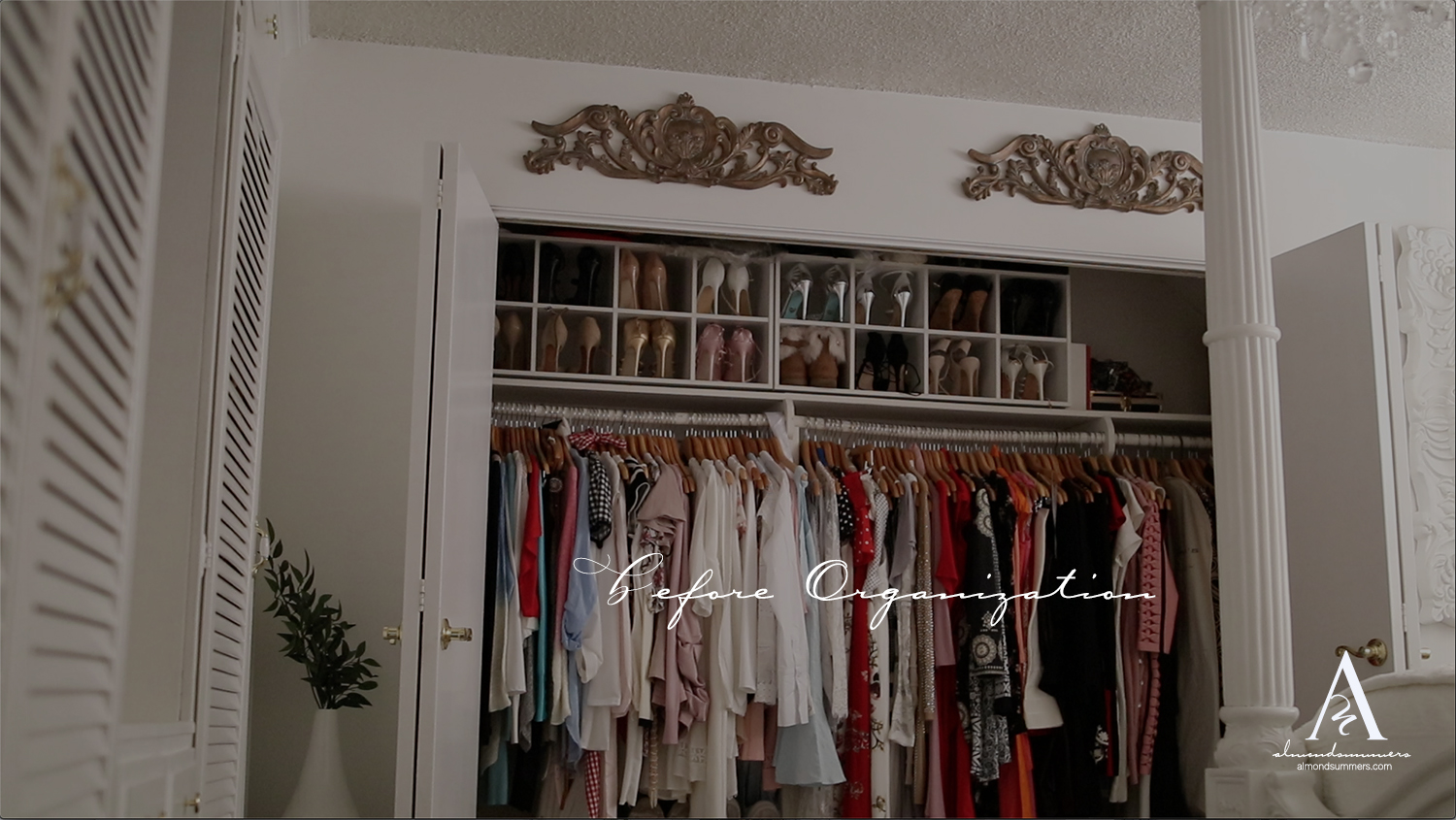Before and After Closet Organization Closet Decorating Ideas | How To Decorate Your Closet | DIY Closet Organization | Organizing a Small Closet | DIY Closet Shelves Small closet organization ideas