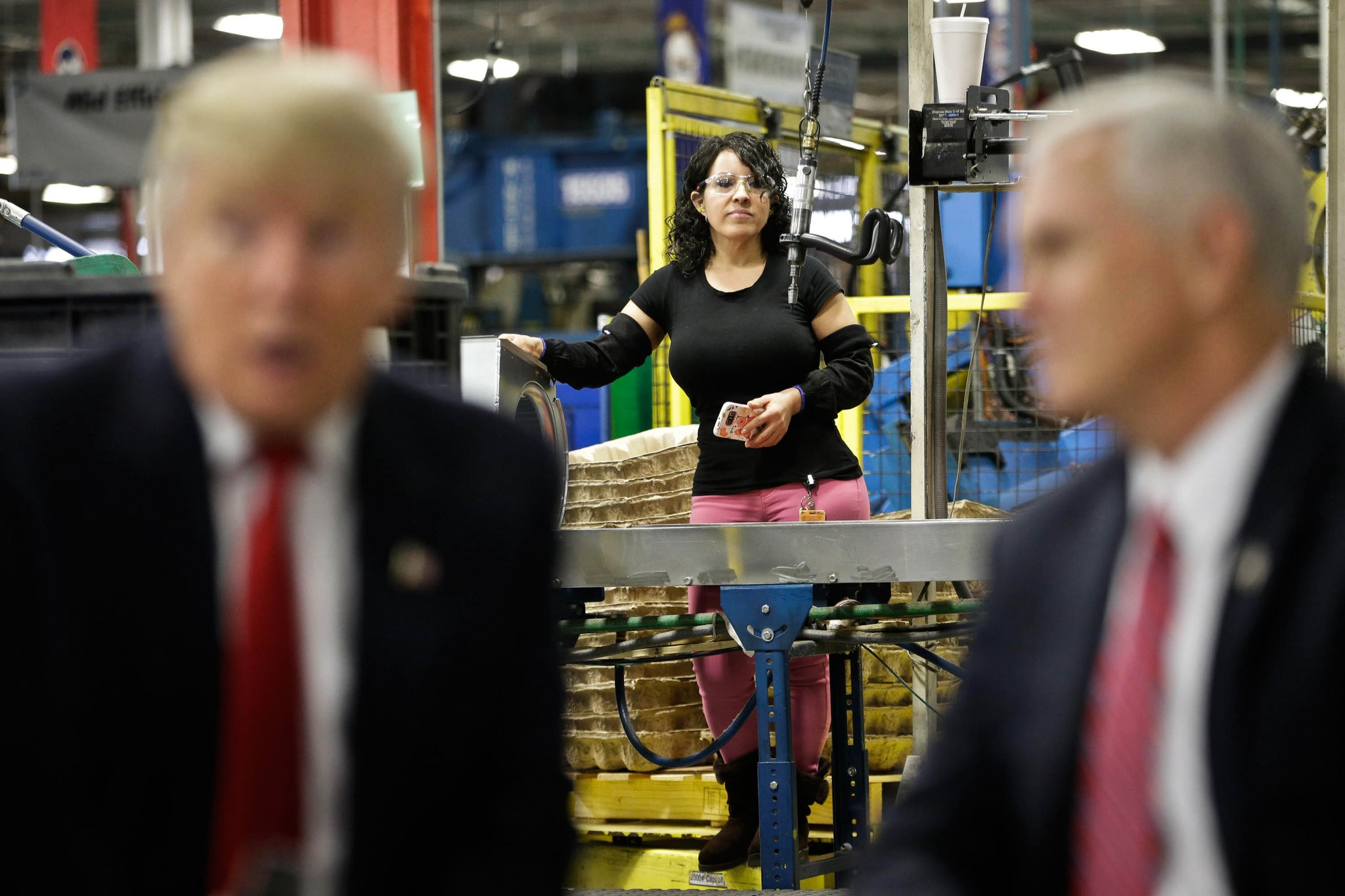 Donald J. Trump and Mike Pence visit Carrier's Indianapolis factory