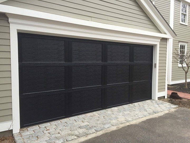 Black wood garage
