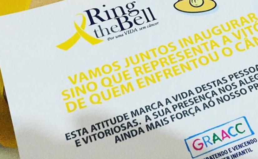 GRAACC se une ao Ring the Bell para celebrar o fim dos ciclos de tratamento do câncer infantil