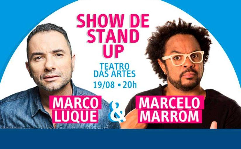 Encontros GRAACC: Marco Luque e Marcelo Marrom apresentam shows de stand-up em SP no dia 19/08