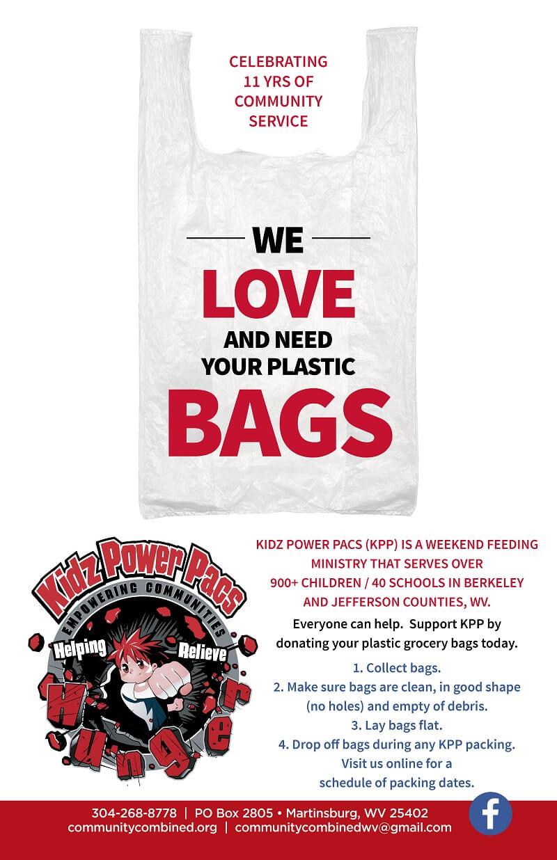 We love your plastic bags! donate them to us today.