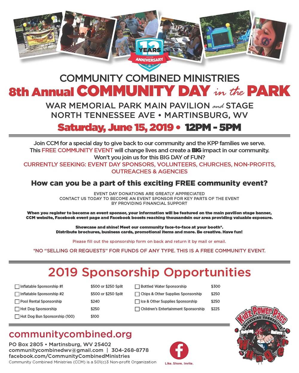 2019 community combined ministries day in the park june 15 2019 download pdf flyer by clicking image caption: opens new tab