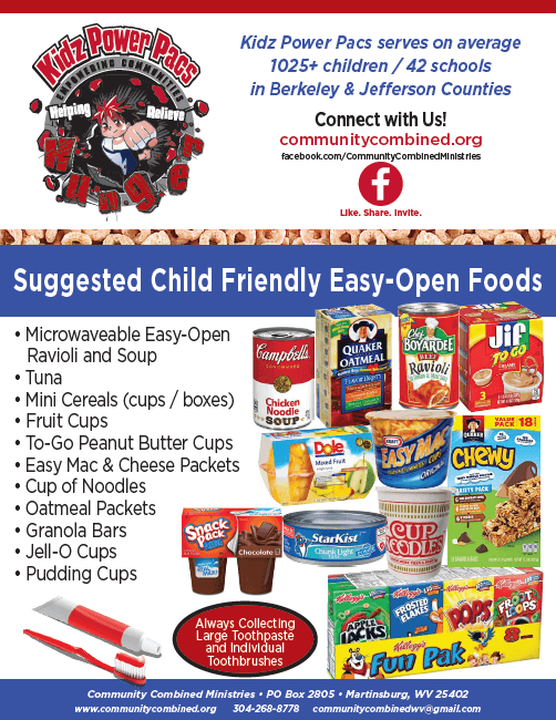 Suggested child friendly easy-open foods: microwavable e z open ravioli and soup, tuna, mini cereals more.