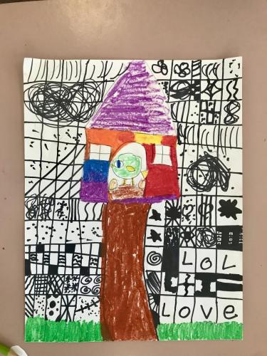 22Birdhouse with patterns22 by Second Graders-