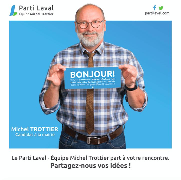 Le Parti Laval – Équipe Michel Trottier débute un porte-à-porte consultatif
