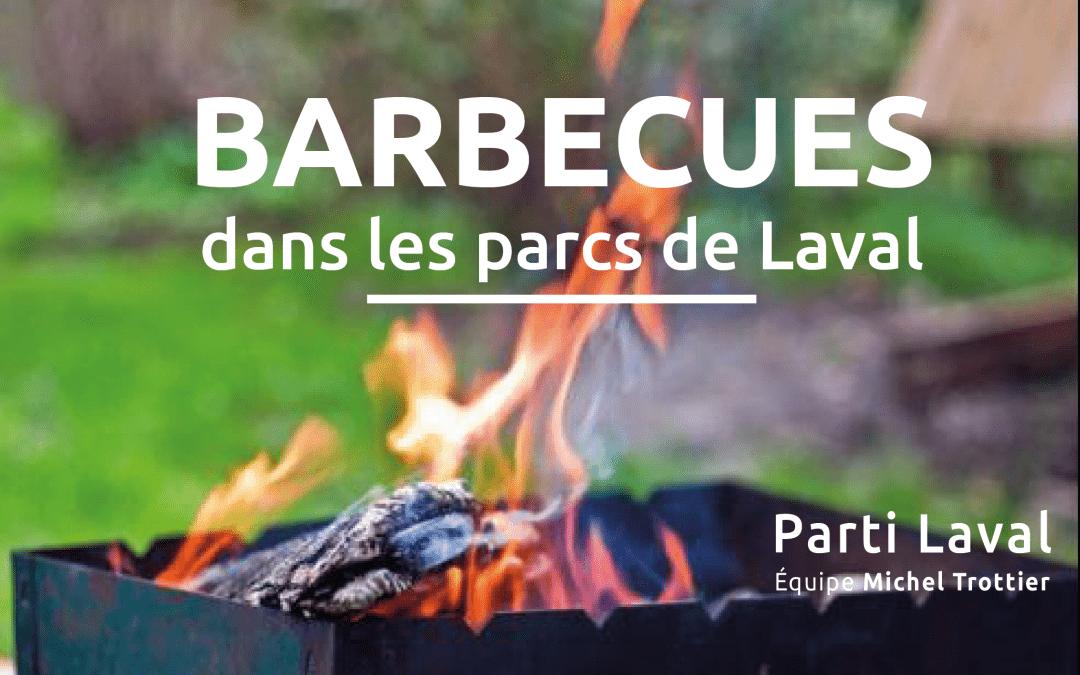 L'usage de barbecues dans certains grands parcs lavallois pourrait devenir possible