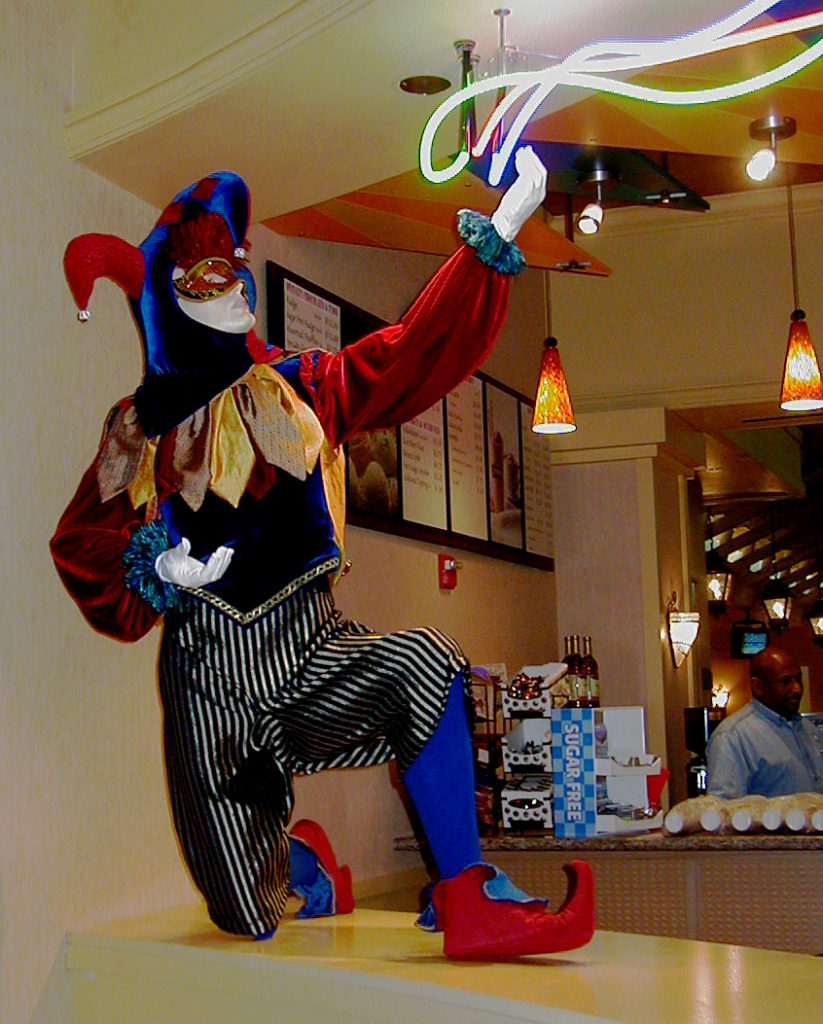 Jester on Ice Cream & Candy Shop Counter, Muckleshoot Casino