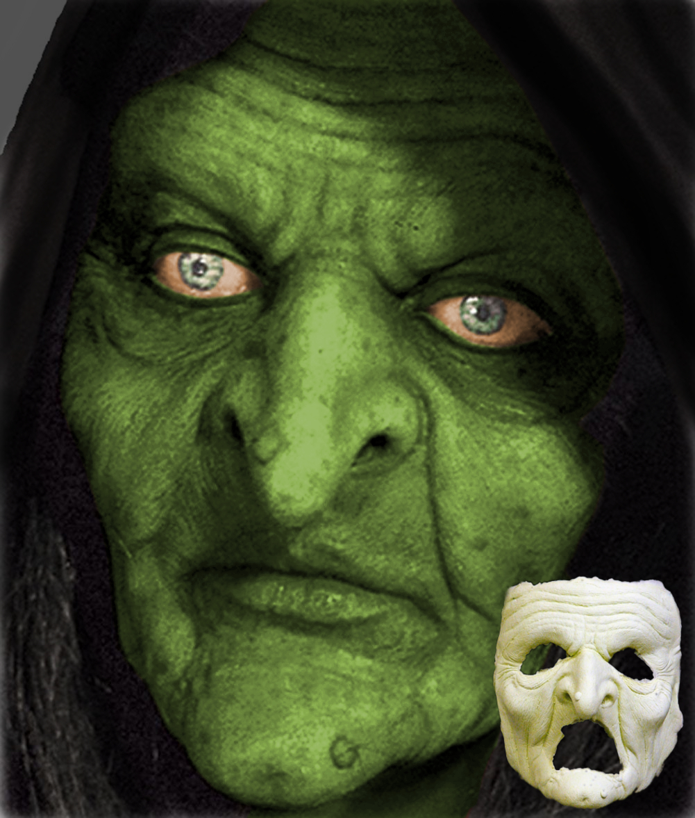 Swamp Witch Foam Latex Mask
