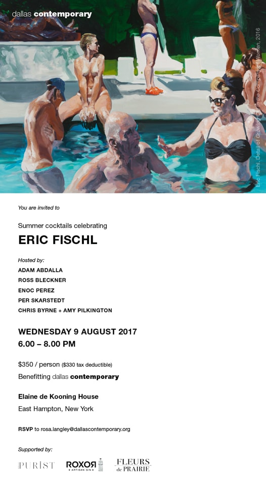 06 DALLAS CONTEMPORARY; ERIC FISCHL - Invite copy