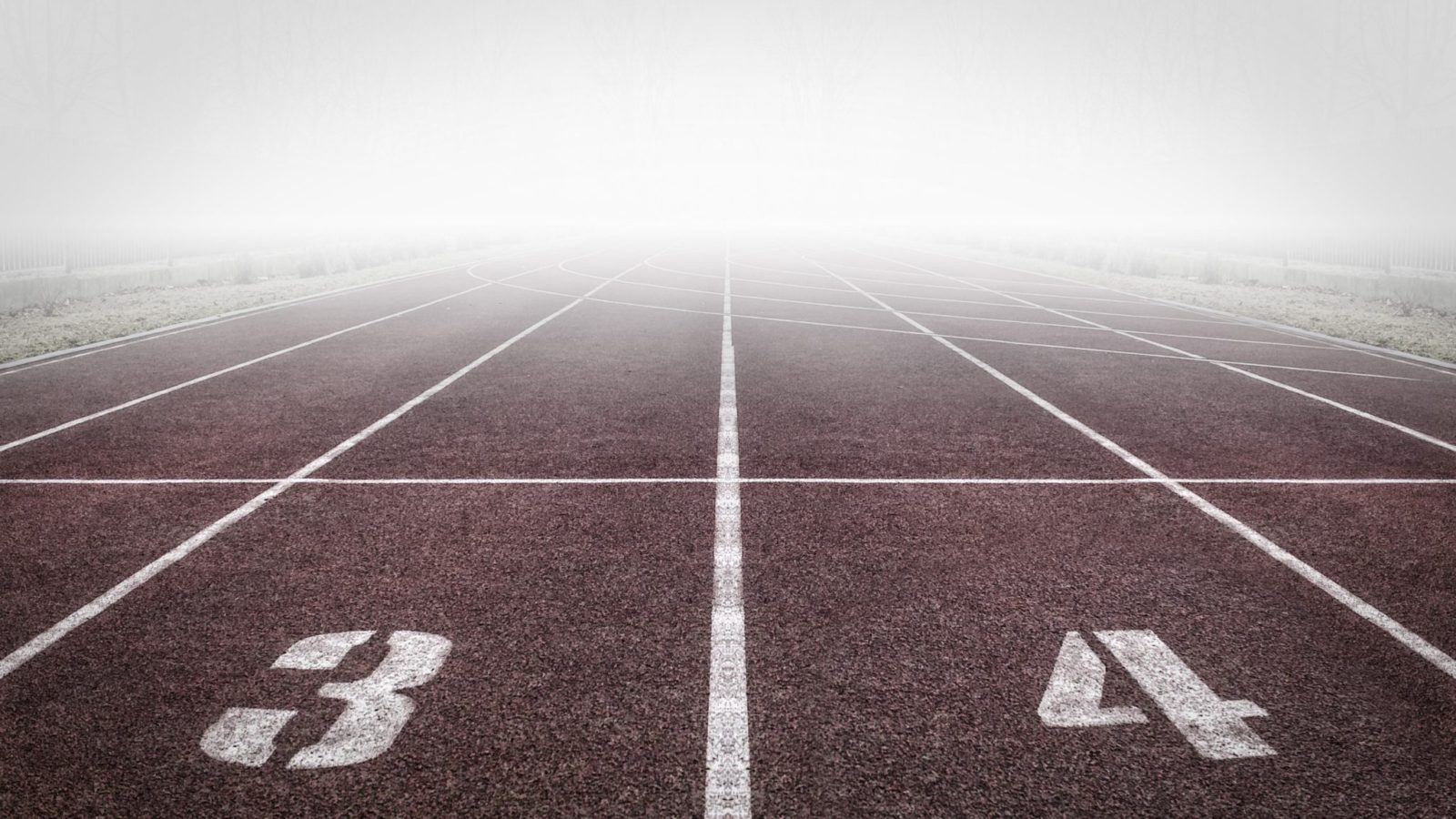 Running Track with Fog