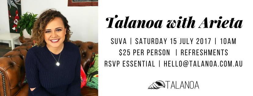 Talanoa with Arieta in Suva
